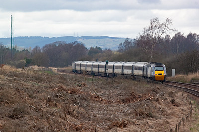 The train has reached Lochmuir Summit and the location for a down side loop and signalbox. When the trees were felled this wonderful shot opened up.