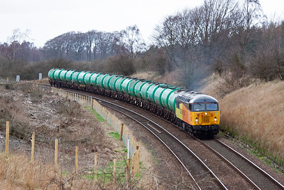 The train is on the drop now. At will turn right at Thornton and run to Dunfermline then take the Longannet branch to Alloa then Stirling and back to Grangemouth. There are not many of these trains left to run. 19/3/2014