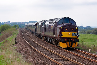 This section of line has a 50mph speed limit due to mining subsidence. Although mining no longer takes place here or in Fife, its legacy remains. Like last week this is 1H79 1342 Edinburgh to Keith first leg of a four night Classic tour.