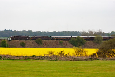 Moving to Thornton and the train is seen sitting in the down passenger loop for its booked 40 minute pathing stop. This allows several trains to overtake the train.
