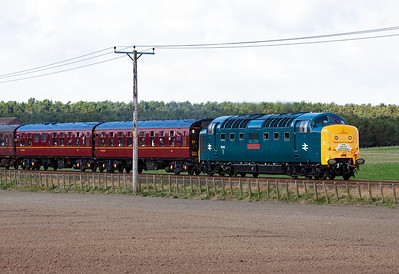 55002 has recently returned to the main line and is rostered to 1Z59 0624 York to Aberdeen The Deltic Aberdonian railtour.