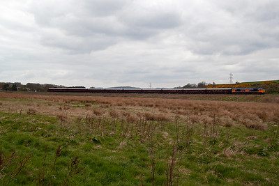 The train is timed at a leisurely pace so the 75mph speed limit of the class 66 will not be an issue.  Most of the passengers would not be bothered about what is pulling them.