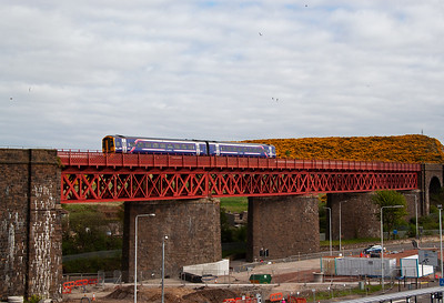 I am out big cat hunting at Inverkeithing and 158728 passes over Jamestown Viaduct with 2K78 1651 Glenrothes with Thornton.  The viewpoint is the top floor of the park and ride carpark.  14/5/2015