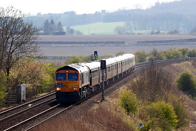 The train is booked over the Newburgh branch to Perth and onto Keith via Dundee and Aberdeen.