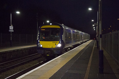 Running in slowing for its stop is 170478 working 1L51 1804 Edinburgh to Dundee.