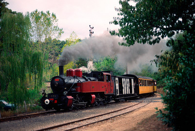 no 413 with the daily steam train to lamastre pulling into Boucieu le Roi, the approximate halfway point of the journet to Lamastre
