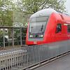 Driving car leading loco (218 413-3) powered train.