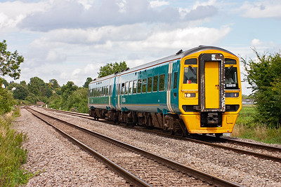 The Maesteg to Gloucester services are worked by a mixture of units. 158818 works 2L61 1458 off Gloucester.
