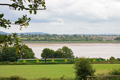 Moving on again along the shore of the River Severn to Purton. An unknown class 170 skirts the shore with 1M73 1545 Cardiff to Nottingham. Very close by is where the Severn Rail bridge crossed the river. I had hoped to get some of the old earth works in the shot but in was not possible.