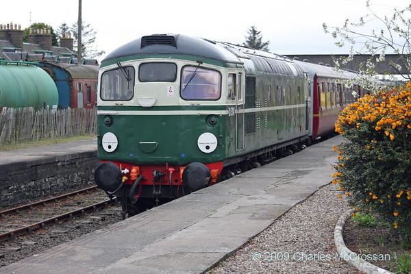 Caledonian Railway Diesel Gala 4th May 2009