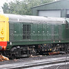 """EE Type 1 8001 and BR Class 47 No.47635 (D1606)<br /> """"Jimmy Milne"""" (in shed)"""