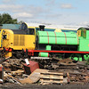 Locos in the yard at Bo'ness