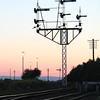 Signal gantry at Bo'ness