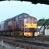 WCRC 37 516 at head of train for ecs morning run to Inverkeithing