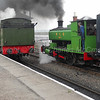 0-4-0ST No 6 (ex NCB) with ex WD 75254 arriving on the service train