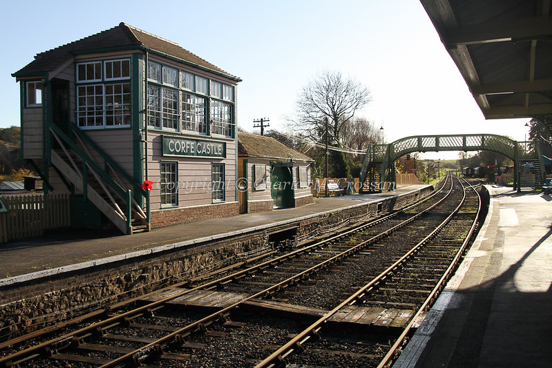 Corfe Castle Station Signal Box opened in 2011; built on site of former LSWR box which was demolished in 1950s