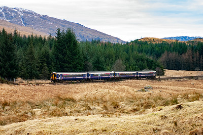 The first unit came from Oban as 1Y24, 1211 off, but the second unit joined it at Crianlarich running as 1Y44 1010 from Mallaig to Crianlarich. The joined train works on to Glasgow.