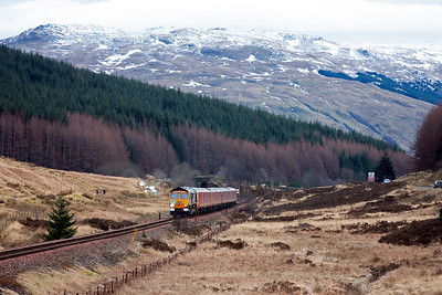 Opening the lens out to capture the whole snowy scene at the County march with 66728 powering up the last few hundred yards of the 1 in 63 climb to the summit.