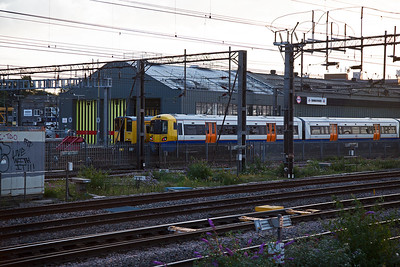 Willesden Depot and units 378213 and 313121 rest between duties on shed.  Sadly no Duchess pacifics were seen here this day.