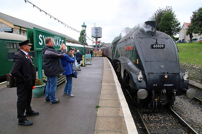 A first for 60009 as it runs into Swanage's platform 2.  Photo : Andrew PM Wright