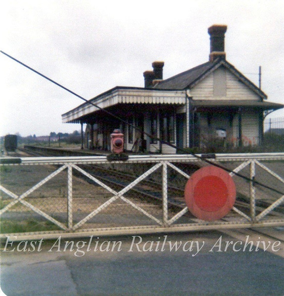 Felixstowe Beach in September 1976. Colonel Tomline's original station. The station has been demolished and the crossing now AHB. The station closed to freight on 5th December 1966 and to passenger traffic on 11th September 1967. The line is still open for container traffic using the docks.