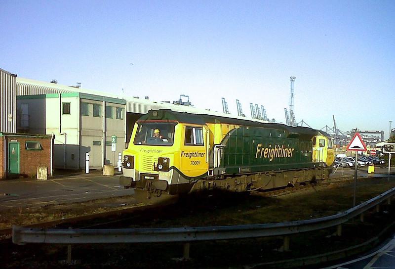 70001 at the Port of Felixstowe c2011. Photo Ian Leighton.