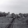 Felixstowe Town viewed from Garrison Lane Bridge on 29th May 1977 showing the original extent of the station. To the extreme left, in steam days, was a turntable and a water column. These were made redundant c 1959/1960 when diesel traction took over.