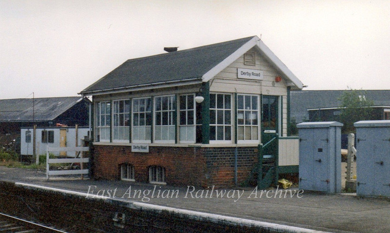 Derby Road Signal Box c1995. The rather poor quality image taken with a disposable camera.