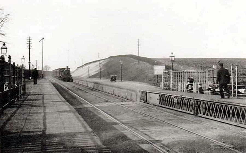 Halesworth facing north towards Lowestoft before the addition of the over bridge.