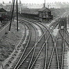 Oulton Broad South Junction, undated. The line to the right went to Lowestoft South Side, Kirkley and the docks area. The main line to the left heads towards the swing bridge.