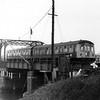 The 1048 Ipswich to Lowestoft crosses Oulton Broad Swing Bridge on 16th February 1976.