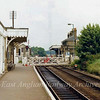 Saxmundham looking north on 28th June 1979 showing the now demolished down platform.