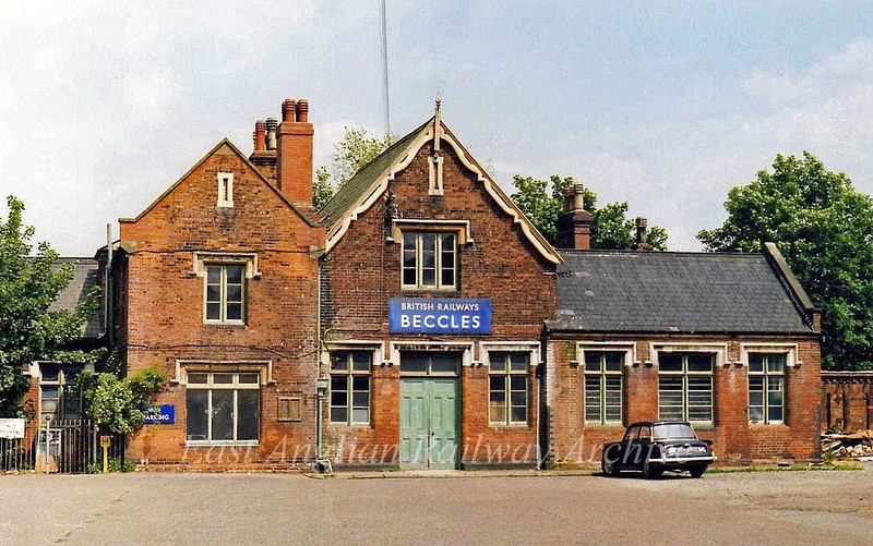 Beccles Station Exterior View.  28th June 1979