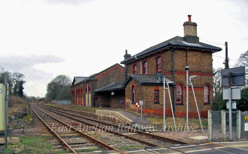 "The disused station at Bealings between Westerfield and Woodbridge, built by The Eastern Union Railway viewed on  26th February 2009. The station closed on 17th September 1956.  View of Bealings Signal Box here.   <a href=""http://www.flickr.com/photos/21602076@N05/7119369241/"">http://www.flickr.com/photos/21602076@N05/7119369241/</a>  The signal box closed on 31st March 1984."