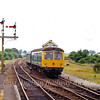 Westerfield Junction on 27th June 1979 with the 1455 from Lowestoft approaching the station. The Felixstowe branch diverges to the right behind the signal box. The signal box closed on 22nd March 1999 when the Felixstowe branch was resignalled and controlled from Colchester Power Box.