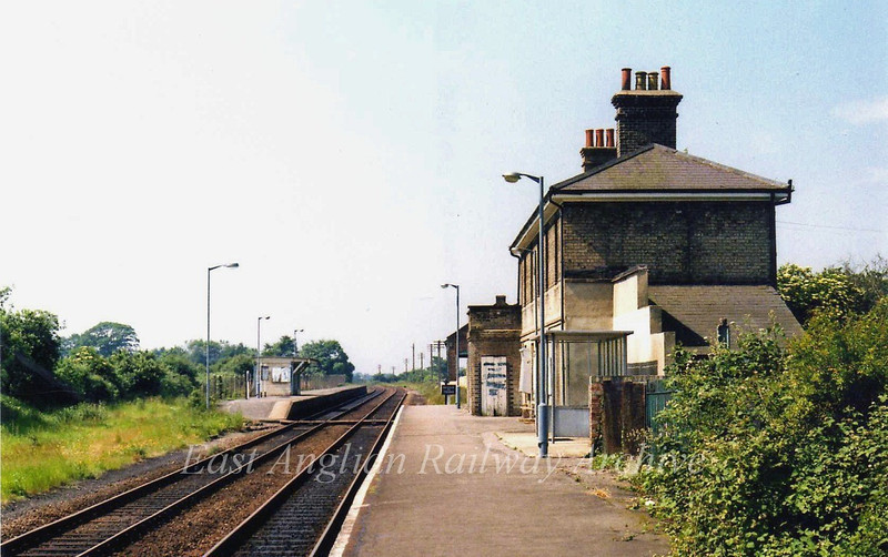 Wickham Market facing South on 28th June 1979.
