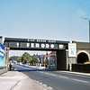 The Ferodo bridge over Norwich Road in Ipswich carrying the lines to Lowestoft and Felixstowe in 1979, facing out of town.  Photo in memory of Mrs Dorothy West of Ipswich.
