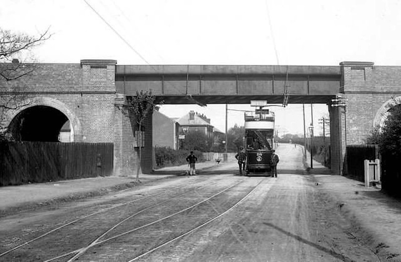 The Ferodo bridge in Norwich Road, Ipswich. The scene is looking out of town probably around the turn of the century. Not a car in sight.