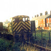 An 03 class shunter heads a short freight along the Kirkley Goods line from Oulton Broad South Junction. The line at this point ran parallel with Victoria Road. Photo taken from Colville Road.Date and photographer unknown. Probably c1968.