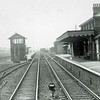 Wickham Market. c1965. Photo Brian Leighton.The signal box closed on 19th July 1965.