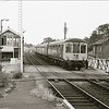 Brampton on 16th July 1976. A Gloucester RCW dmu is arriving on an Ipswich to Lowestoft working. The now demolished station house is to the left.<br /> <br /> Image:- Russell Walker.