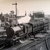 An unidentified loco passes Ferry Lane Crossing as it arrives at Woodbridge c 1940. To the right is the Melton Tramway which led to the Maltings, Sun Wharf and Gladwells Coal Yard.