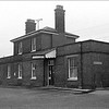 Halesworth Station exterior view. 1975.