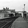 Woodbridge facing Melton.  1st April 1977. The goods shed was to the left abutting the station building. Only the end wall remains.