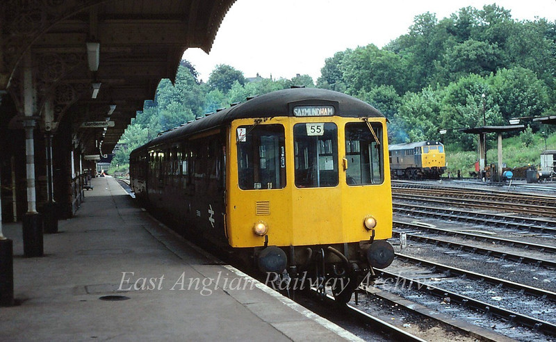 BRCW unit waits to leave Ipswich with the 1932 to Saxmundham. 8th July 1980