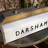 Fluorescent lamp from Darsham dating from the 1950's.  I happened to be driving along the A12 at Darsham sometime in 1976 and noticed some builders removing the lamps on the platform. I slipped one of the builders a fiver and took this away. It still exists in my garden lit up by solar powered lights.