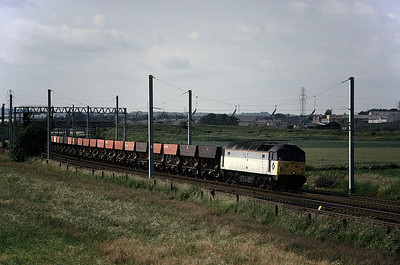 47308 with southbound empty HEA hoppers 23/06/92