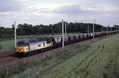 56 093 with northbound MGR hoppers  18/06/92