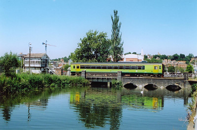 The low bridge over the River Witham is a popular location for photographers and I was not going to pass it up on a superb day. 153334 passes over the river with 2K25 1304 Doncaster to Lincoln. East Holmes signalbox is to the left.