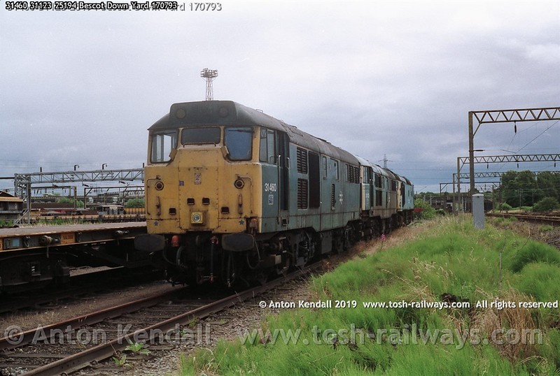 31460 31123 25194 Bescot Down Yard 170793